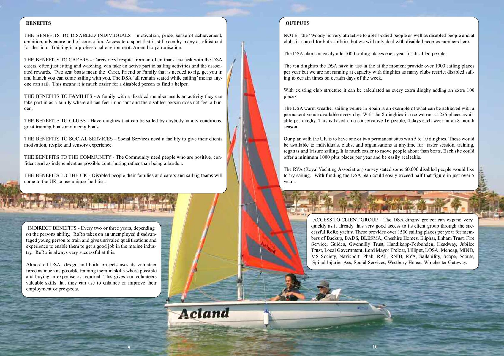 disabled sailing wheelchair accessible yacht and dinghy
